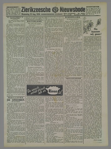 Zierikzeesche Nieuwsbode 1934-08-22