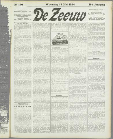 De Zeeuw. Christelijk-historisch nieuwsblad voor Zeeland 1924-05-14