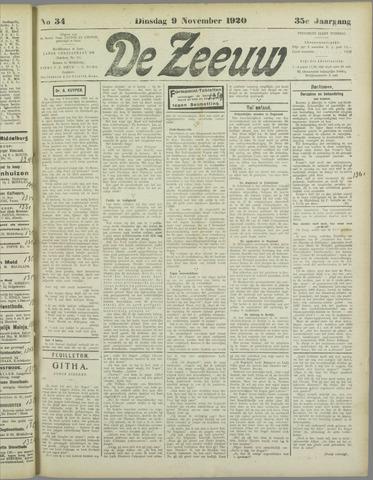 De Zeeuw. Christelijk-historisch nieuwsblad voor Zeeland 1920-11-09