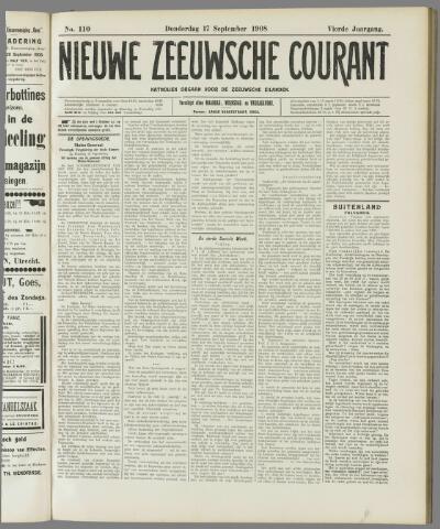 Nieuwe Zeeuwsche Courant 1908-09-17