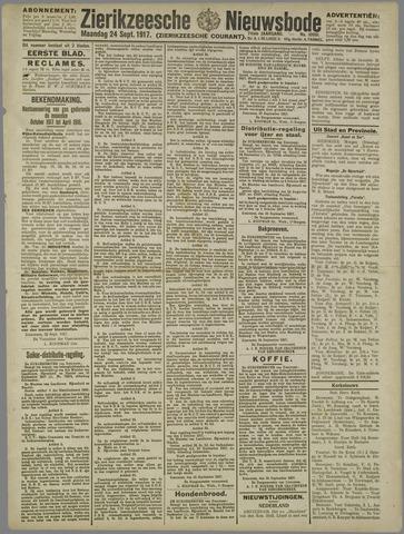 Zierikzeesche Nieuwsbode 1917-09-24