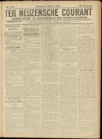 Ter Neuzensche Courant. Algemeen Nieuws- en Advertentieblad voor Zeeuwsch-Vlaanderen / Neuzensche Courant ... (idem) / (Algemeen) nieuws en advertentieblad voor Zeeuwsch-Vlaanderen 1926-10-04