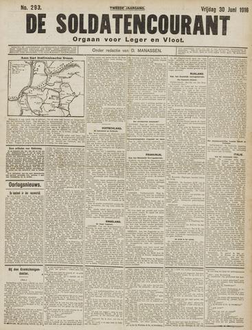 De Soldatencourant. Orgaan voor Leger en Vloot 1916-06-30