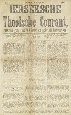 Ierseksche en Thoolsche Courant 1885-08-08