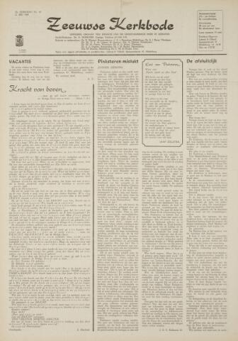 Zeeuwsche kerkbode, weekblad gewijd aan de belangen der gereformeerde kerken/ Zeeuwsch kerkblad 1969-05-22