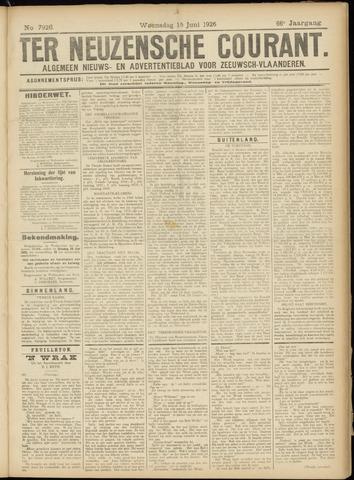 Ter Neuzensche Courant. Algemeen Nieuws- en Advertentieblad voor Zeeuwsch-Vlaanderen / Neuzensche Courant ... (idem) / (Algemeen) nieuws en advertentieblad voor Zeeuwsch-Vlaanderen 1926-06-16