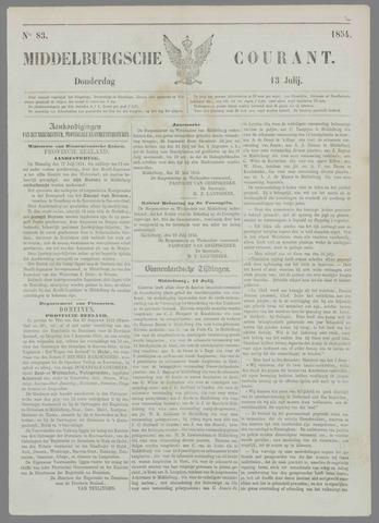 Middelburgsche Courant 1854-07-13