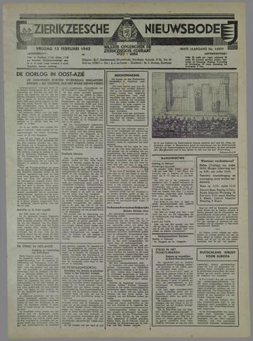 Zierikzeesche Nieuwsbode 1942-02-13
