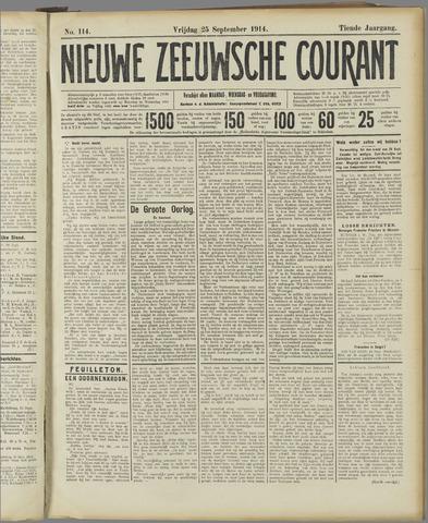 Nieuwe Zeeuwsche Courant 1914-09-25