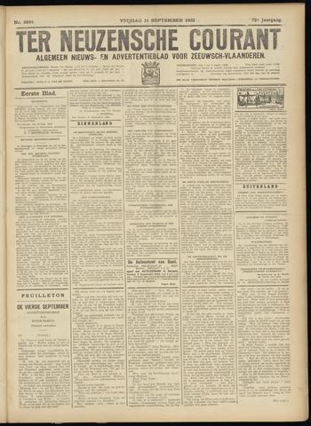 Ter Neuzensche Courant. Algemeen Nieuws- en Advertentieblad voor Zeeuwsch-Vlaanderen / Neuzensche Courant ... (idem) / (Algemeen) nieuws en advertentieblad voor Zeeuwsch-Vlaanderen 1932-09-16