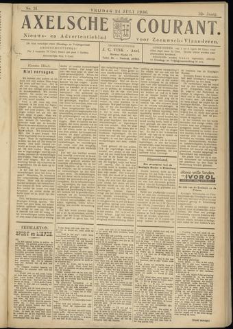 Axelsche Courant 1936-07-24