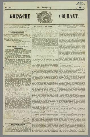 Goessche Courant 1857-04-30
