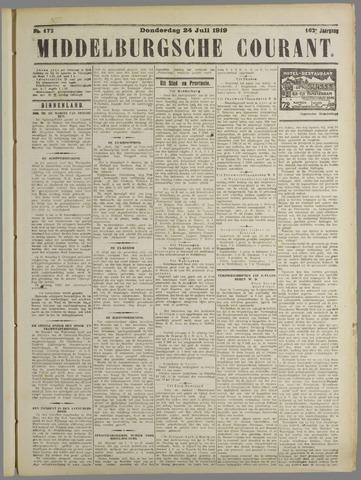 Middelburgsche Courant 1919-07-24