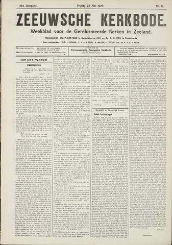 Zeeuwsche kerkbode, weekblad gewijd aan de belangen der gereformeerde kerken/ Zeeuwsch kerkblad 1929-05-24