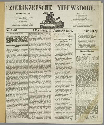 Zierikzeesche Nieuwsbode 1856