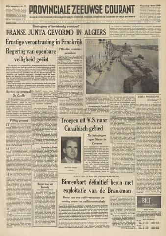 Provinciale Zeeuwse Courant 1958-05-14