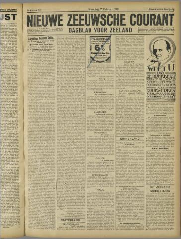 Nieuwe Zeeuwsche Courant 1921-02-07