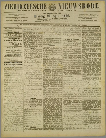 Zierikzeesche Nieuwsbode 1902-04-29
