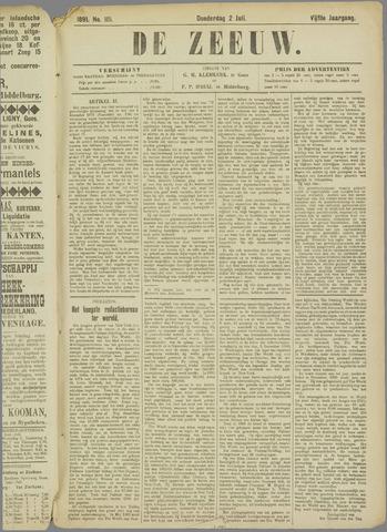 De Zeeuw. Christelijk-historisch nieuwsblad voor Zeeland 1891-07-02