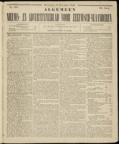Ter Neuzensche Courant. Algemeen Nieuws- en Advertentieblad voor Zeeuwsch-Vlaanderen / Neuzensche Courant ... (idem) / (Algemeen) nieuws en advertentieblad voor Zeeuwsch-Vlaanderen 1869-12-15