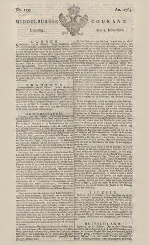 Middelburgsche Courant 1763-11-05