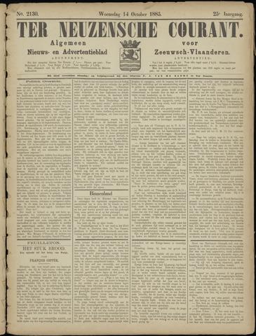 Ter Neuzensche Courant. Algemeen Nieuws- en Advertentieblad voor Zeeuwsch-Vlaanderen / Neuzensche Courant ... (idem) / (Algemeen) nieuws en advertentieblad voor Zeeuwsch-Vlaanderen 1885-10-14