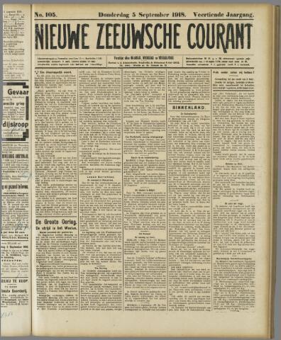 Nieuwe Zeeuwsche Courant 1918-09-05