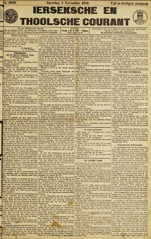 Ierseksche en Thoolsche Courant 1919-11-01