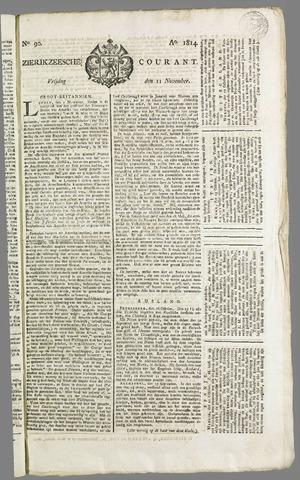 Zierikzeesche Courant 1814-11-11