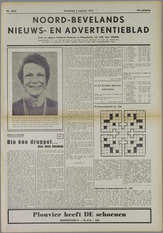 Noord-Bevelands Nieuws- en advertentieblad 1973-08-02