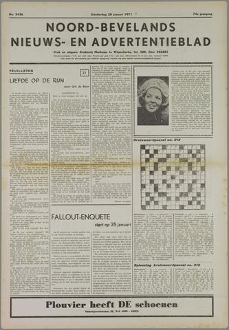 Noord-Bevelands Nieuws- en advertentieblad 1971-01-28
