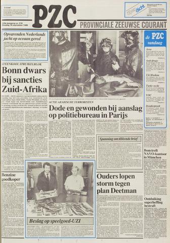 Provinciale Zeeuwse Courant 1986-09-16