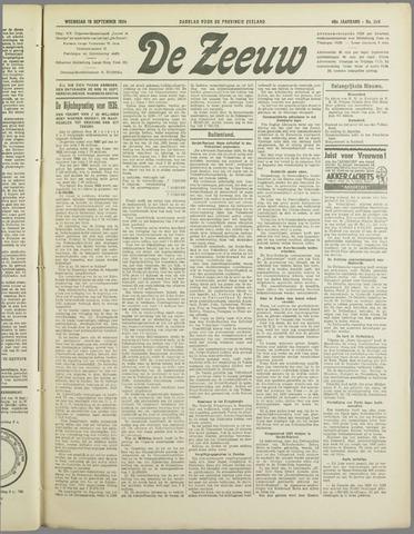De Zeeuw. Christelijk-historisch nieuwsblad voor Zeeland 1934-09-19
