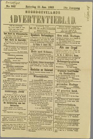 Noord-Bevelands Nieuws- en advertentieblad 1913