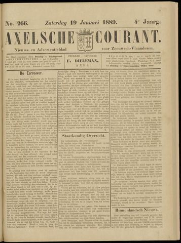 Axelsche Courant 1889-01-19