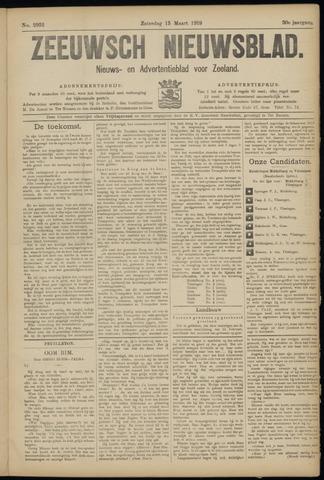 Ter Neuzensch Volksblad. Vrijzinnig nieuws- en advertentieblad voor Zeeuwsch- Vlaanderen / Zeeuwsch Nieuwsblad. Nieuws- en advertentieblad voor Zeeland 1919-03-15