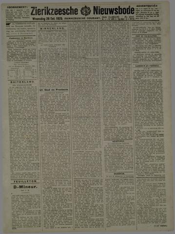 Zierikzeesche Nieuwsbode 1925-10-28