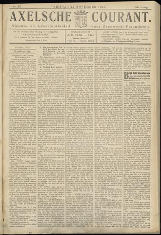 Axelsche Courant 1936-11-27