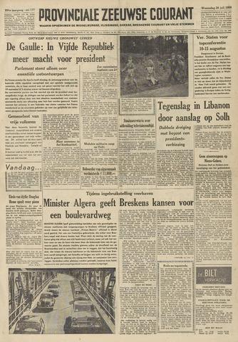Provinciale Zeeuwse Courant 1958-07-30