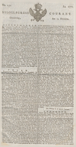 Middelburgsche Courant 1771-12-19