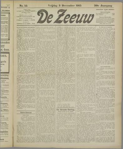 De Zeeuw. Christelijk-historisch nieuwsblad voor Zeeland 1915-12-03