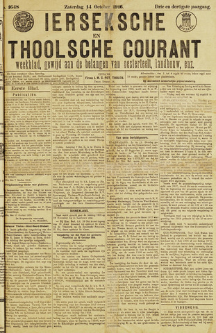 Ierseksche en Thoolsche Courant 1916-10-14