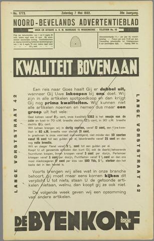 Noord-Bevelands Nieuws- en advertentieblad 1932-05-07