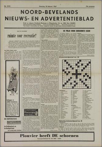 Noord-Bevelands Nieuws- en advertentieblad 1967-02-18