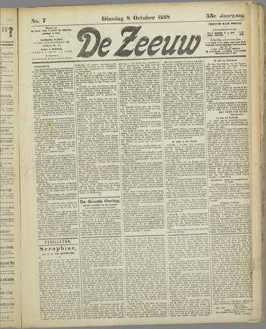 De Zeeuw. Christelijk-historisch nieuwsblad voor Zeeland 1918-10-08