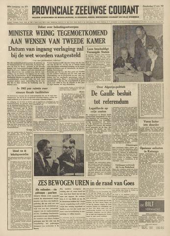 Provinciale Zeeuwse Courant 1960-11-17