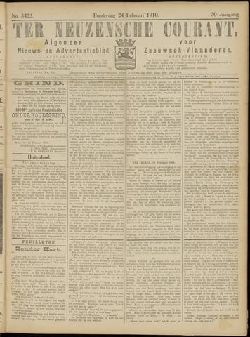Ter Neuzensche Courant. Algemeen Nieuws- en Advertentieblad voor Zeeuwsch-Vlaanderen / Neuzensche Courant ... (idem) / (Algemeen) nieuws en advertentieblad voor Zeeuwsch-Vlaanderen 1910-02-24