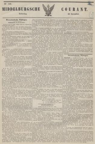 Middelburgsche Courant 1851-11-29