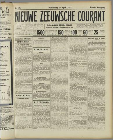 Nieuwe Zeeuwsche Courant 1914-04-16