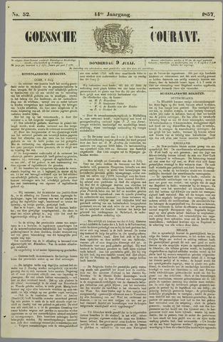 Goessche Courant 1857-07-09
